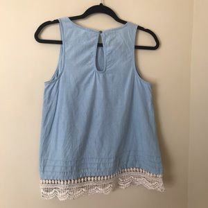 Linen light blue tank